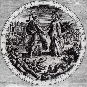 Otto Vaenius, 1612 - Societas Romanorum et Batavorum (Het Verbond van de Romeinen en de Batavieren)